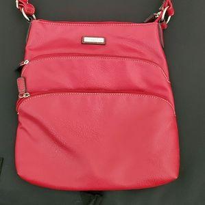 Red Rosetti Crossbody Handbag
